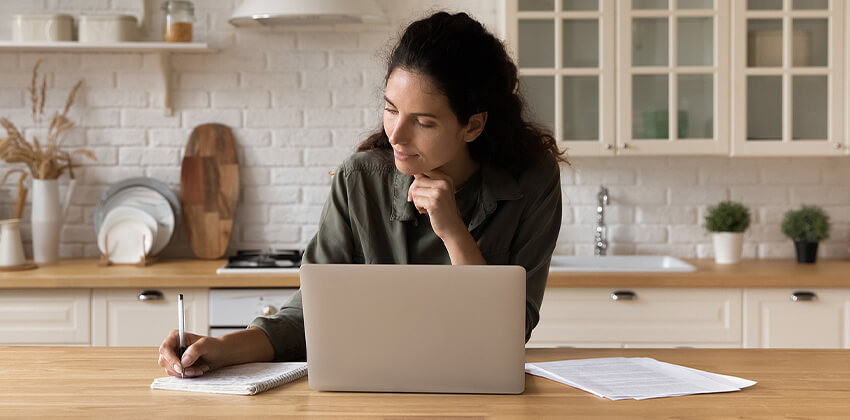 woman preparing for an interview